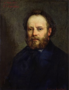 Portrait of Pierre Joseph Proudhon (1809-65) 1865 (oil on canvas)